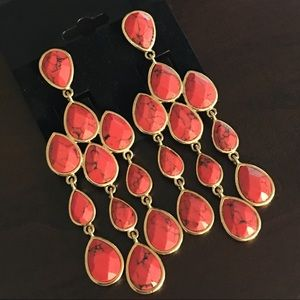 Chloe and Isabel Red Coral Earrings